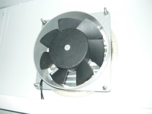 Installation on the inner side of the fan