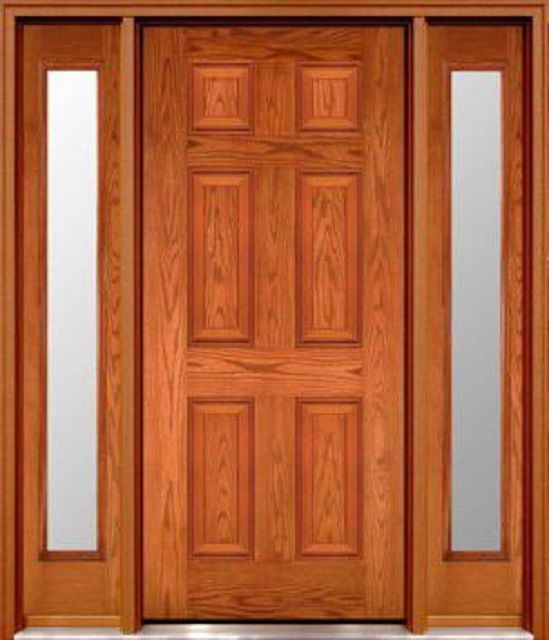 Paneled doors , completely made ​​of solid