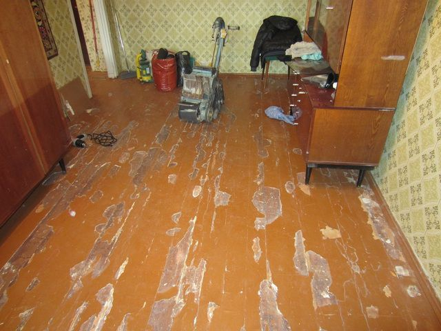 The uneven surface of the wooden floor should be or scrape ...