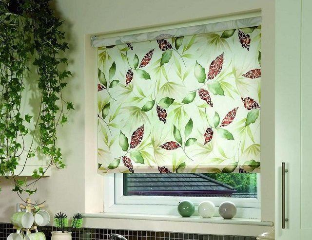 Blinds can be patterned decoration of interior spaces
