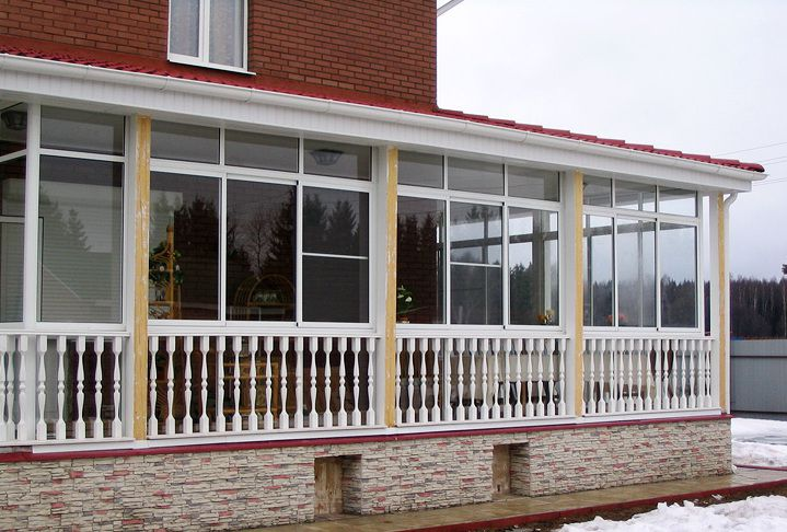 Winter glazed veranda