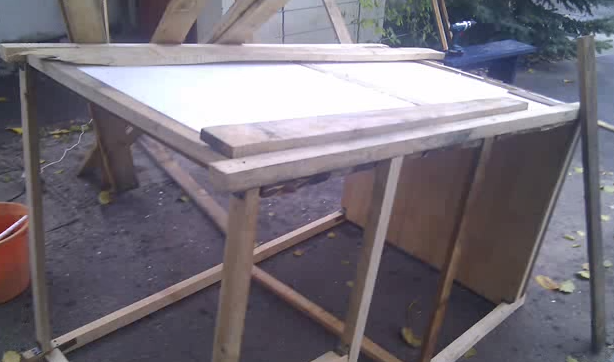The photo shows a variant of foam insulation that fits between the bars and sutured boards