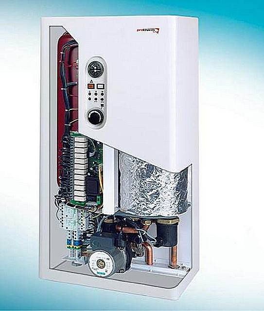 Electric heating boiler is a private house