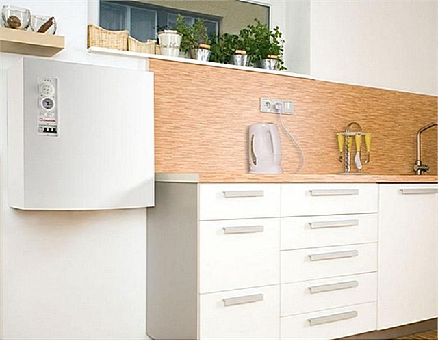 Electric heating boiler can easily be placed , for example , in the kitchen