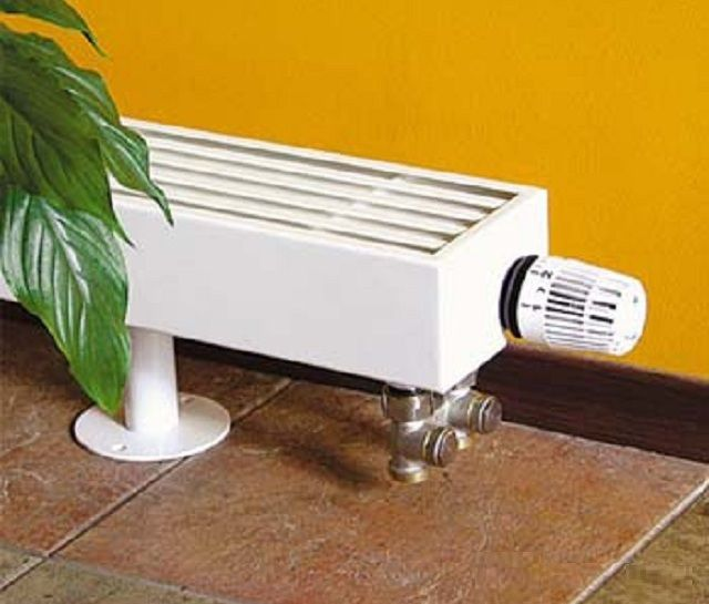Floor convector with thermostat option