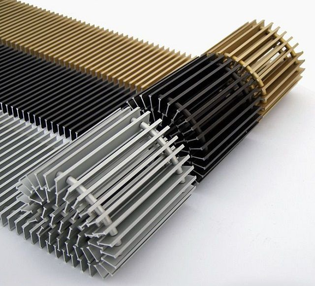 Grilles for embedded convectors