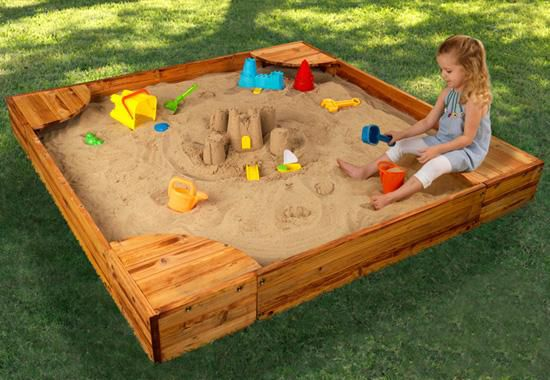 Sandbox with their hands