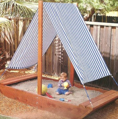 Sandbox with a canopy