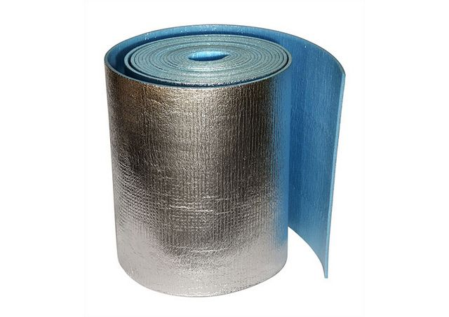 Thin rolled foil insulation