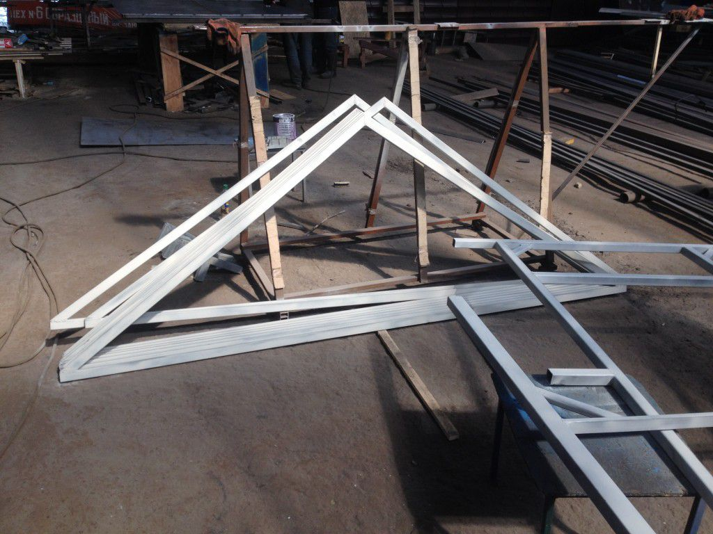 The frame for the roof
