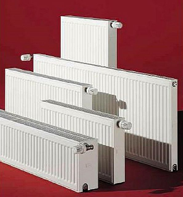 Radiator power depends on its design and on the size of