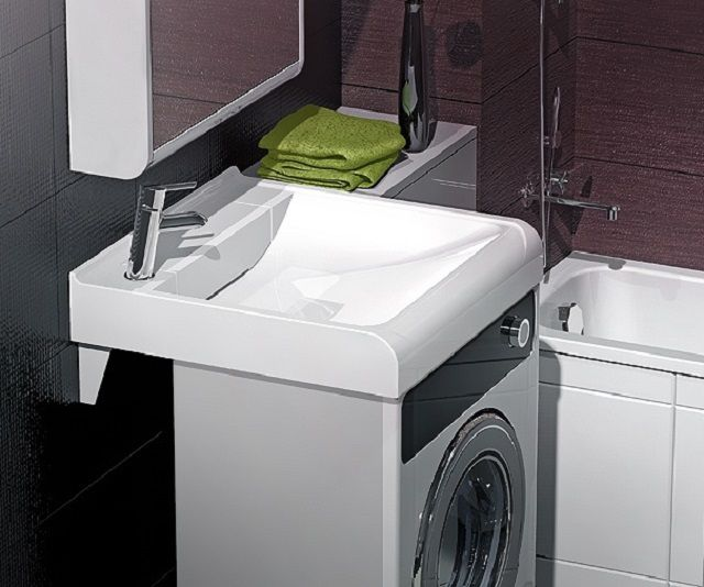 Available in special models for small-sized washing machine is to be used in conjunction with a sink
