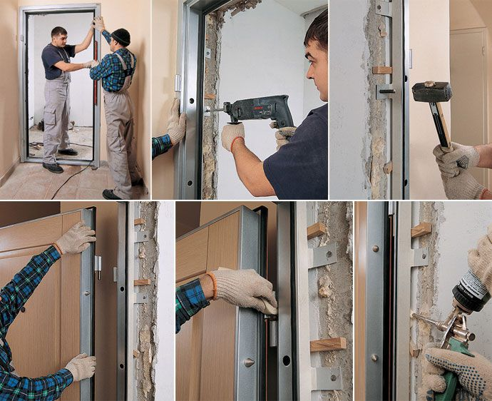Technology installation of the input metal doors