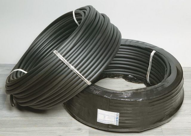 Bay pipes from cross-linked polyethylene PEX desired black