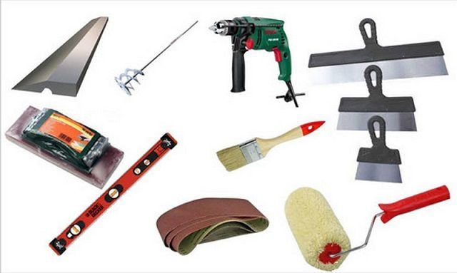 Tools for wall spackling