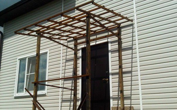 The frame for the canopy