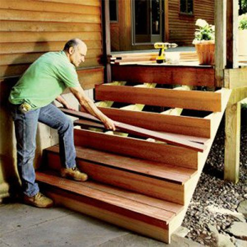 Mounting the steps and risers