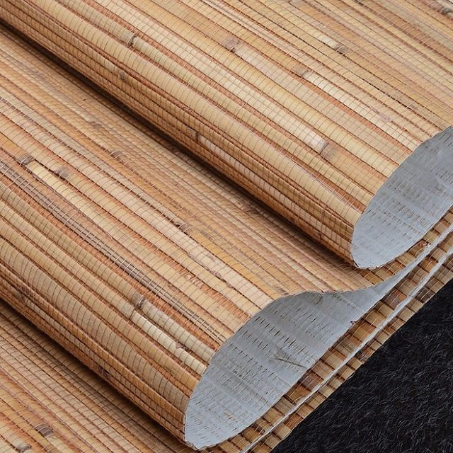 Very unusual wallpaper of bamboo fiber