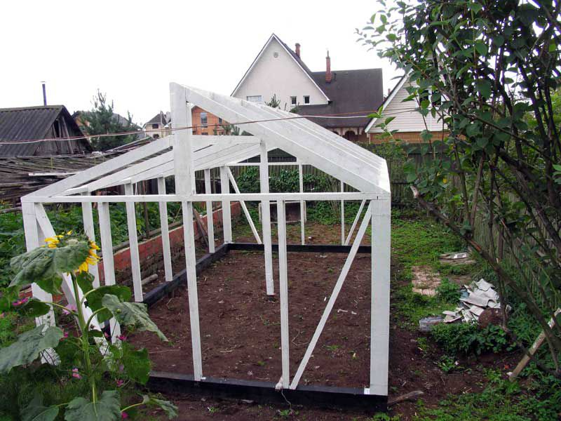 Another option arrangement roof greenhouses