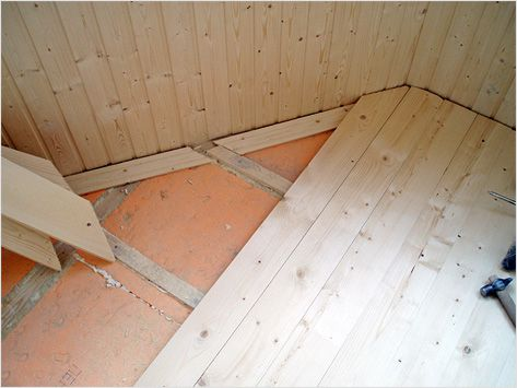 Laying wooden floors