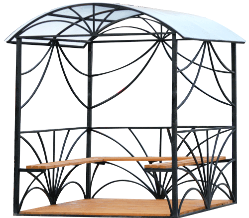 An example of a metal gazebo