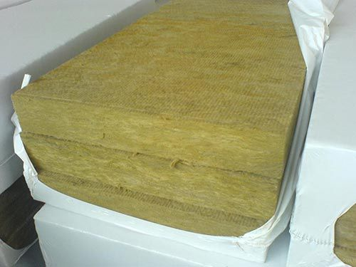 The photo rockwool insulation
