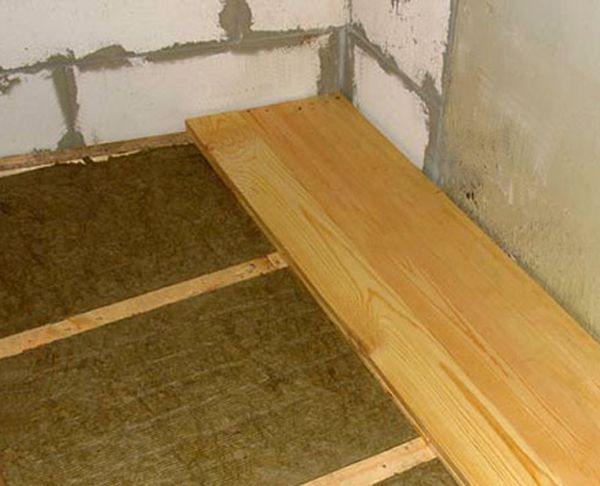 Thermal insulation of concrete floor