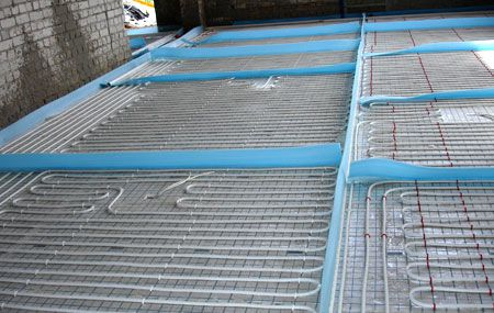 Underfloor heating water