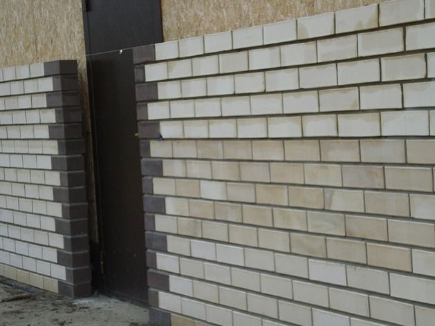 skin sample brick door house from SIP panels