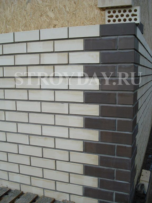 Boarding houses angles of SIP panels brick