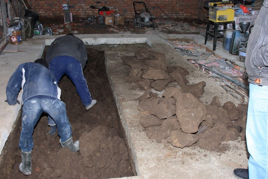 Preparation of the excavation