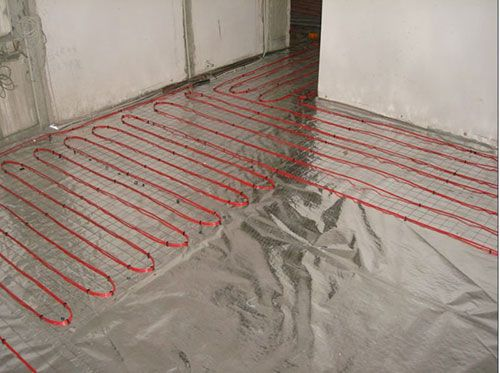 Installation of cable floor
