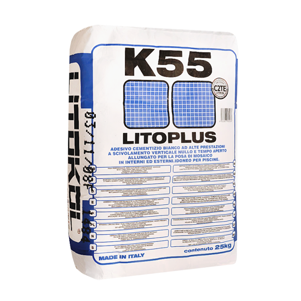 LITOPLUS K55 ( Litokol to 55 ) - dry adhesive mixture on the basis of white cement