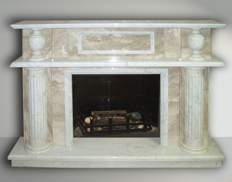 Example fireplace , marble , with columns .Illustration