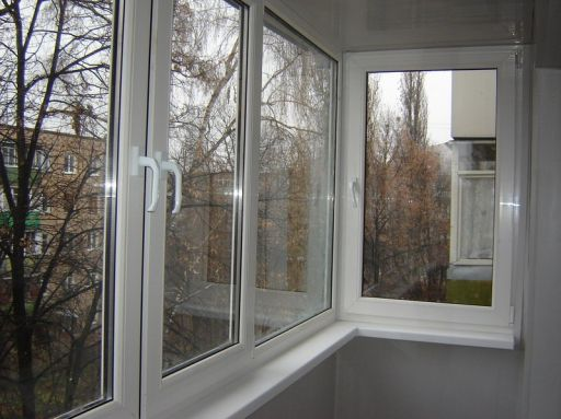Plastic windows for glazing balconies