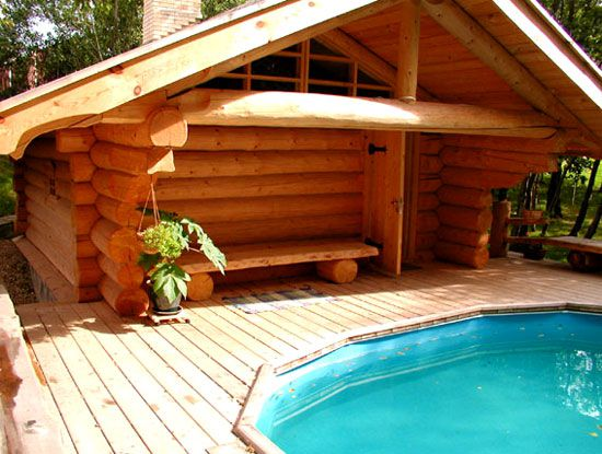 Construction of saunas with their own hands