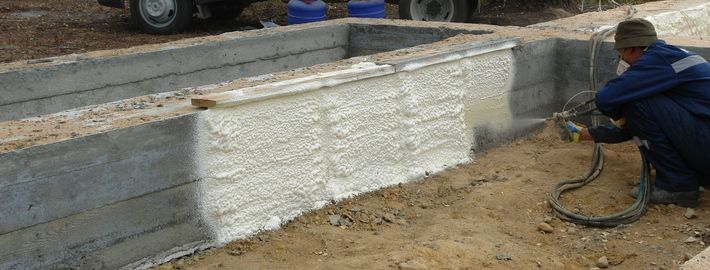 Thermal insulation foam grillage