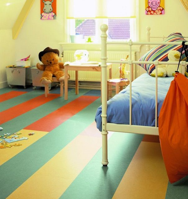 Linoleum especially good for children