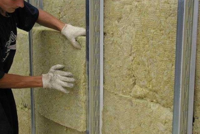Installing insulation in the walls