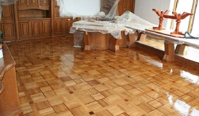 Repair of the parquet with his own hands