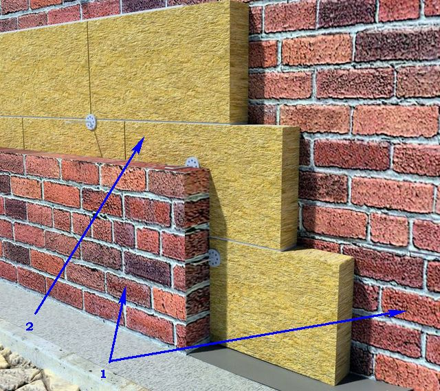 Driving a three-layer insulation brickwork
