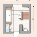 Possible layout of the bathroom