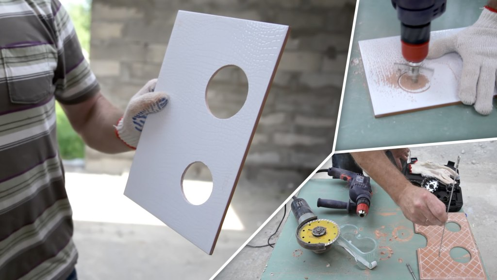 How to make the hole in the tile