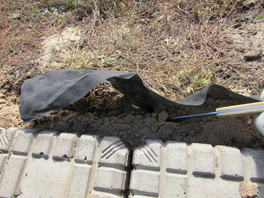 Pruning geotextile