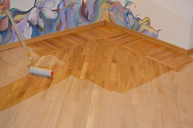 Primer is to provide good adhesion of the floor surface for the upcoming application of varnish