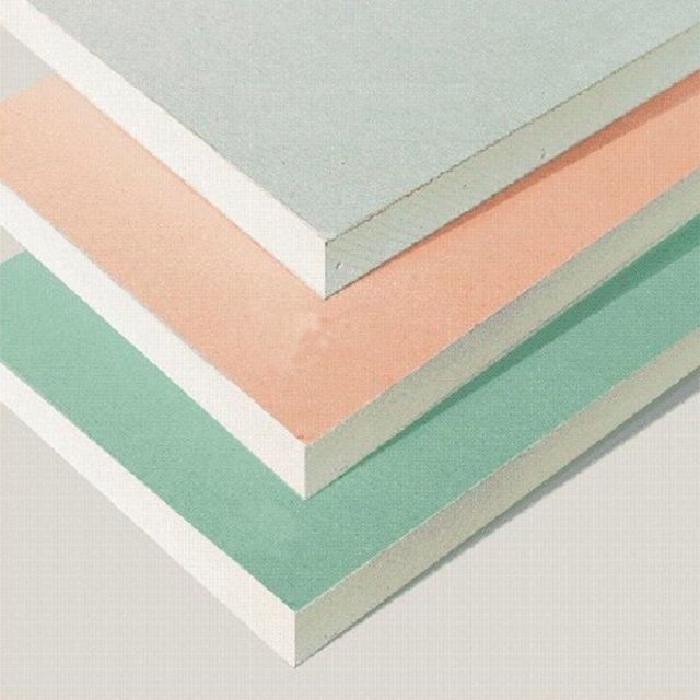 Various types of gypsum board