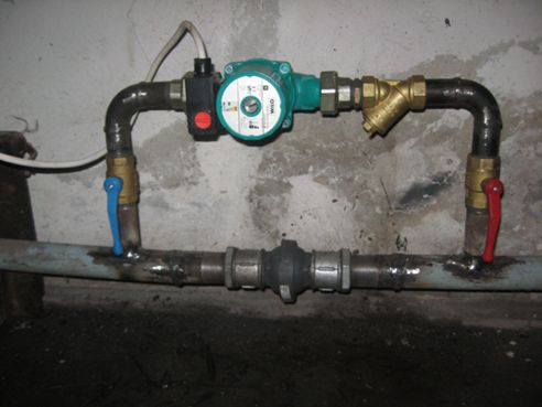 Install the pump in the heating system Greenhouses