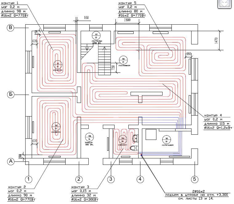Designing the system of floor heating