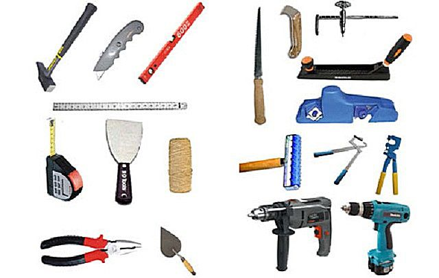 Tools for plasterboard work