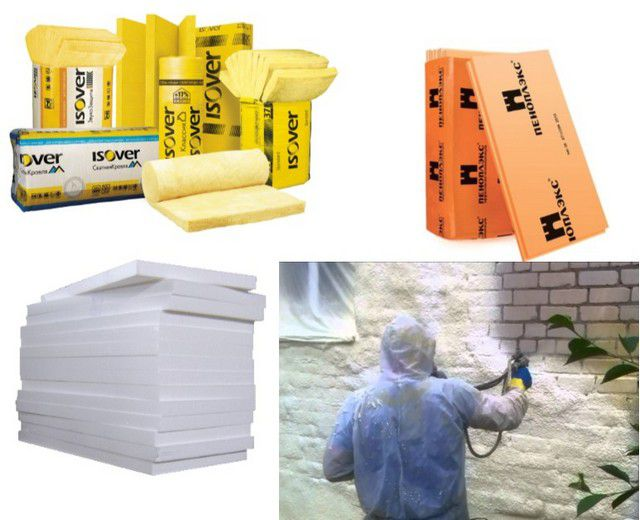 Insulation materials for exterior walls of the house